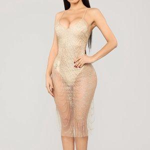 My New Love Glitter Midi Dress